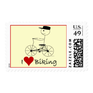 I Love Biking Gifts and Apparel Postage