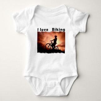 I Love Biking Gnarly Baby Bodysuit