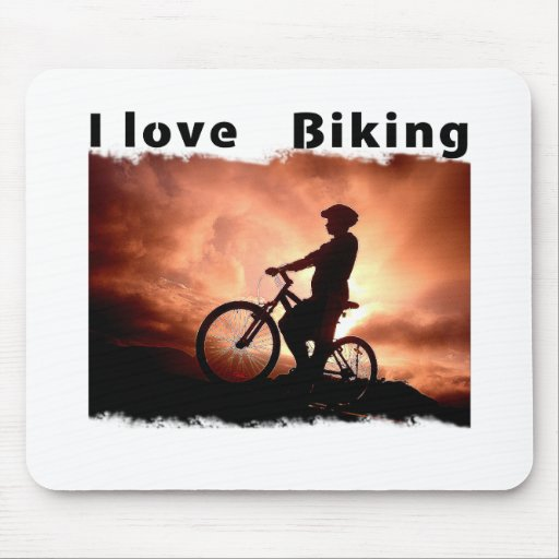 I Love Biking Gnarly Mouse Pads