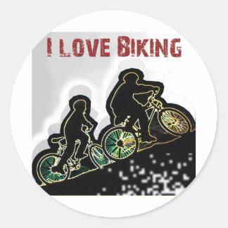 I Love Biking Gonzo Classic Round Sticker