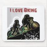 I Love Biking Gonzo Mouse Pad