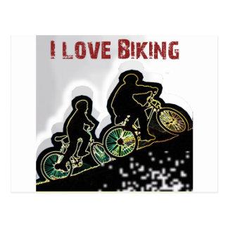 I Love Biking Gonzo Postcard
