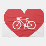I Love Biking Hand Towel