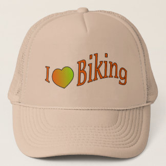 I love biking hat