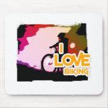 I Love Biking Ridin Mousepads
