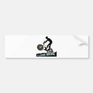 I Love Biking Spokes Bumper Sticker