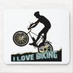 I Love Biking Spokes Mouse Pads