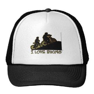 I Love Biking Stem Trucker Hat