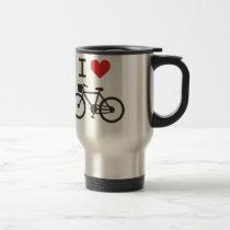 I Love Biking Travel Mug