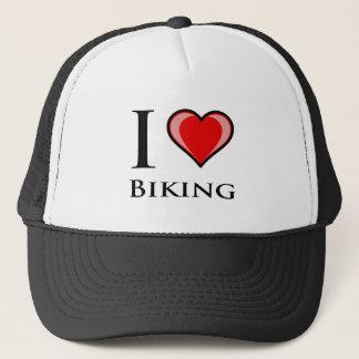 I Love Biking Trucker Hat