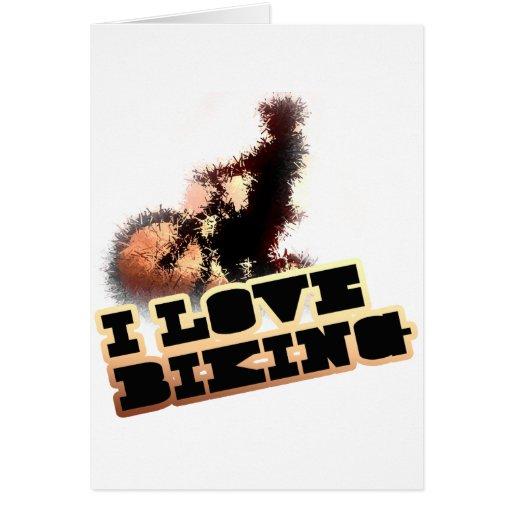 I Love Biking Wheelie Cards