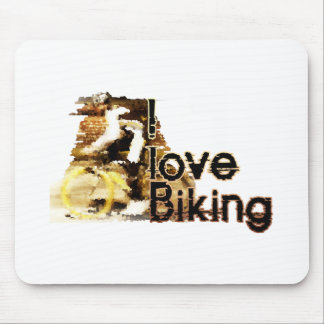I Love Biking Wipe Out Mouse Pad