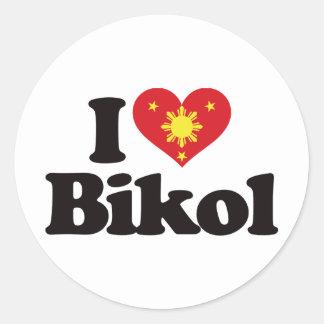I Love Bikol Classic Round Sticker