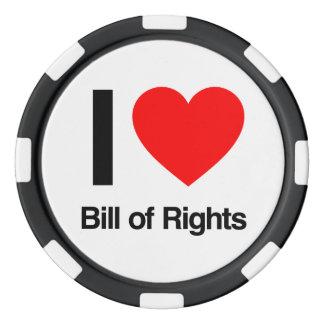i love bill of rights poker chips