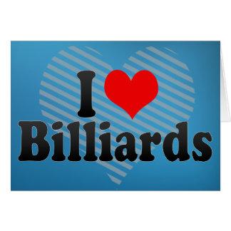 I Love Billiards Greeting Card