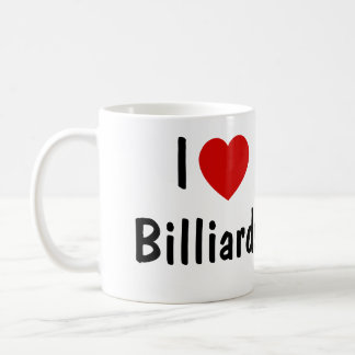 I Love Billiards Coffee Mug