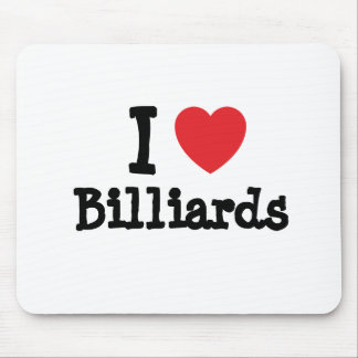 I love Billiards heart custom personalized Mouse Pad