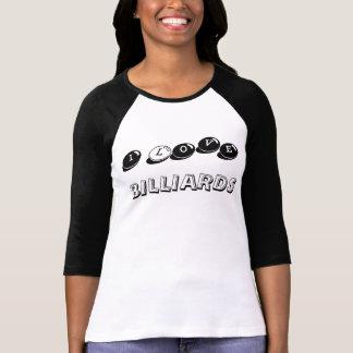 I Love Billiards Ladies Cue Ball Tee
