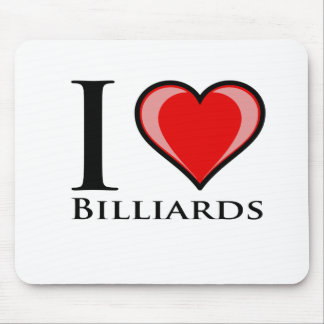 I Love Billiards Mouse Pad
