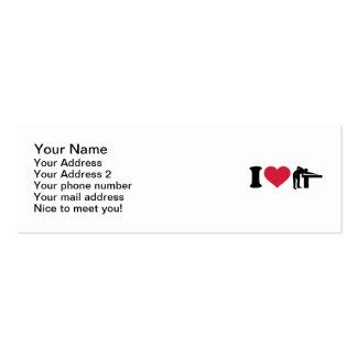 I love Billiards player Mini Business Card