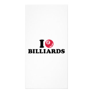 I love Billiards Pool Personalized Photo Card