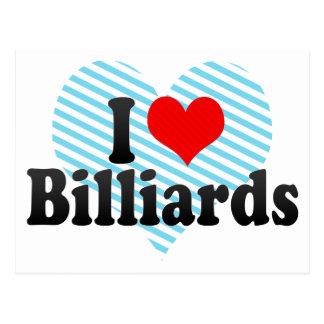 I Love Billiards Postcard