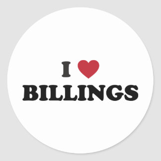 I Love Billings Montana Classic Round Sticker