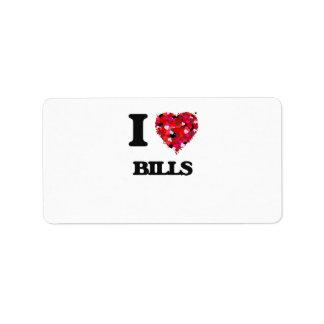 I Love Bills Address Label