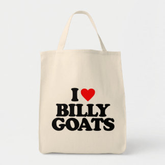 I LOVE BILLY GOATS GROCERY TOTE BAG