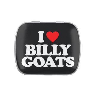 I LOVE BILLY GOATS JELLY BELLY CANDY TIN