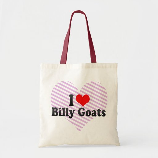 I Love Billy Goats Canvas Bags