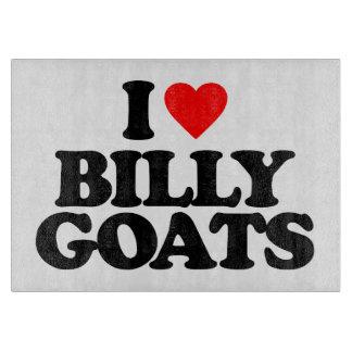 I LOVE BILLY GOATS CUTTING BOARD