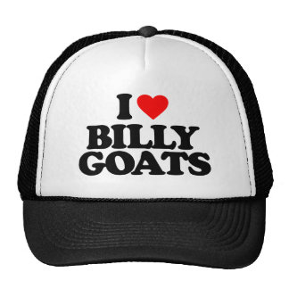 I LOVE BILLY GOATS TRUCKER HAT