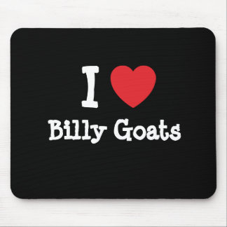 I love Billy Goats heart custom personalized Mouse Pad