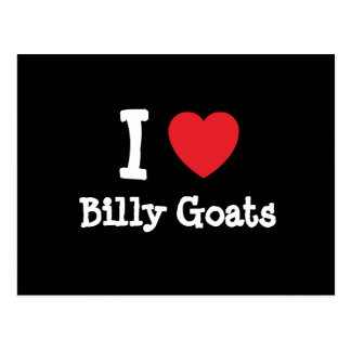 I love Billy Goats heart custom personalized Post Cards