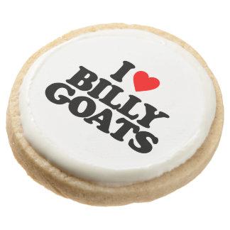 I LOVE BILLY GOATS ROUND PREMIUM SHORTBREAD COOKIE