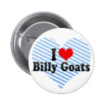 I Love Billy Goats Pinback Button