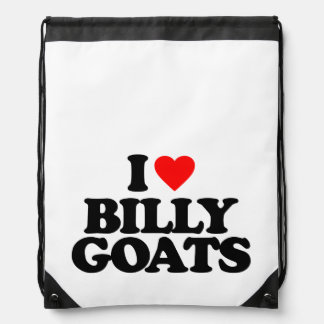 I LOVE BILLY GOATS DRAWSTRING BAGS