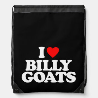 I LOVE BILLY GOATS CINCH BAGS