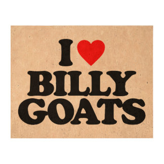 I LOVE BILLY GOATS QUEORK PHOTO PRINT