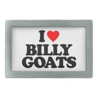 I LOVE BILLY GOATS RECTANGULAR BELT BUCKLE