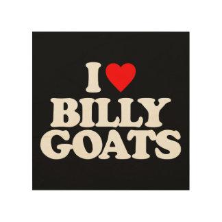 I LOVE BILLY GOATS WOOD WALL ART