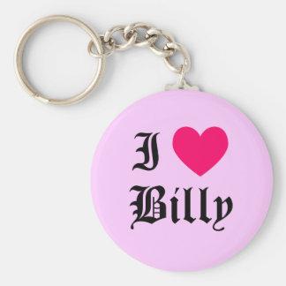 I Love Billy Keychain