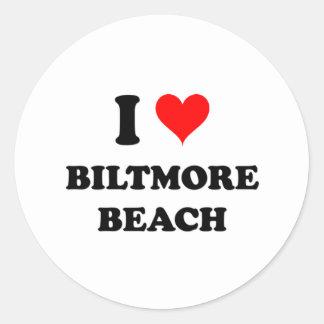 I Love Biltmore Beach Round Stickers