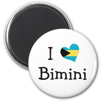 I Love Bimini 2 Inch Round Magnet