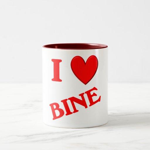 I Love Bine Two-Tone Coffee Mug