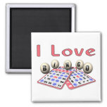 I Love Bingo 2 Inch Square Magnet