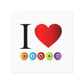 I love bingo canvas print