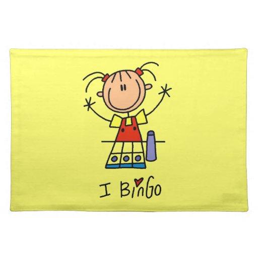 I Love Bingo Cloth Placemat