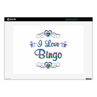 I Love Bingo Decal For Laptop